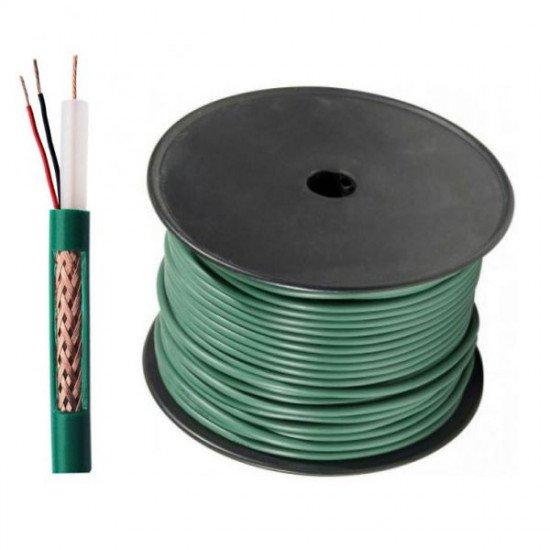 Coaxial cable KX6 + 2 power wires