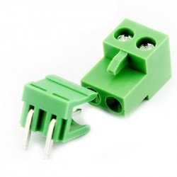 5.08mm Right Angle Screw Terminal block - 2 pin